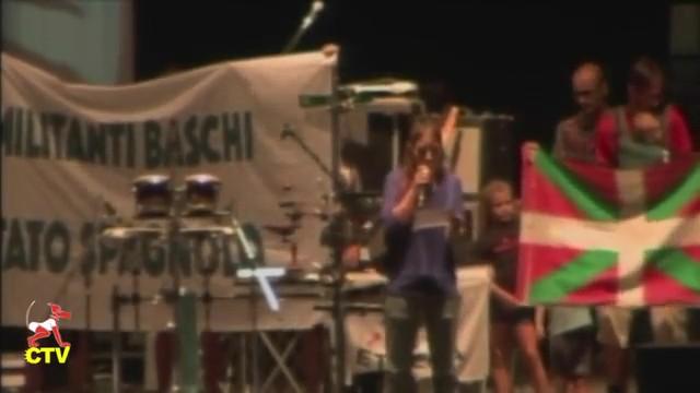 26.08.2015 #festaradio intervento rappresentanti Baschi al Palco Principale