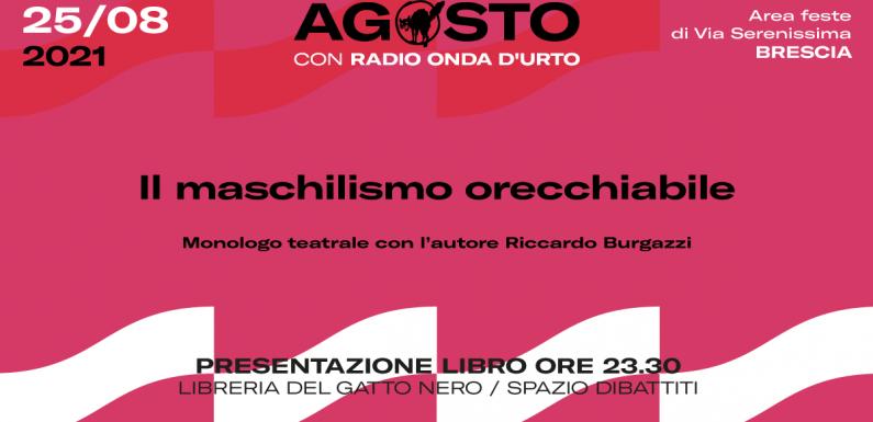 """""""Il maschilismo orecchiabile.Mezzo secolo di sessismo nella musica leggera italiana"""" di Riccardo Burgazzi"""